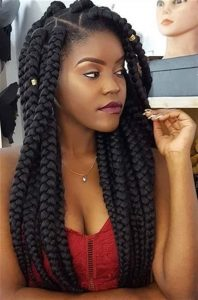jumbo size long box braid style with special brazilian wool - curlygirlswag