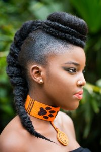 kenyan ladies popular natural loc makeover style with brazilian wool - blackgirllonghair