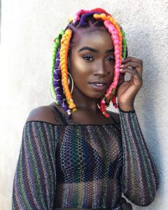 kinky colourful short brazilian wool hairstyle for slay queens - brit co