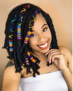 medium crochet hairstyle with brazilian wool for beauty queens - lisaalamode