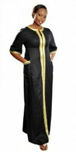 plain ankara kaftan gown with two side pockets - pinterest