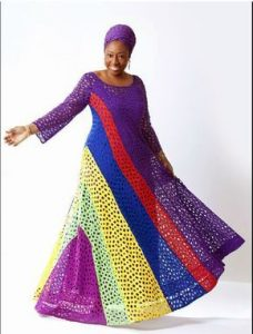 rainbow colour ankara fabric for long kaftan maxi - i1 wp