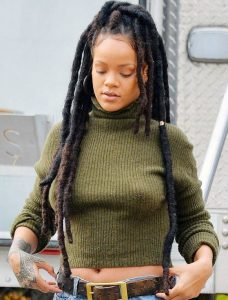 rihanna looks like an overgrown baby in this long loc brazilian wool hairstyle - vogue