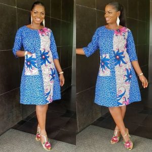 short kaftan gown with one side pocket - aniexclusive