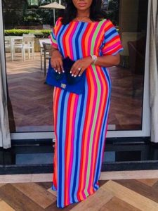 striped ankara fabric for simple ankara kaftan boubou - sumchic