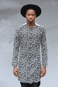 cute ankara plain and pattern kaftan with hat - bellanaija