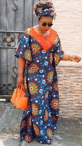 young granny simple ankara kaftan boubou style - darlingnaija