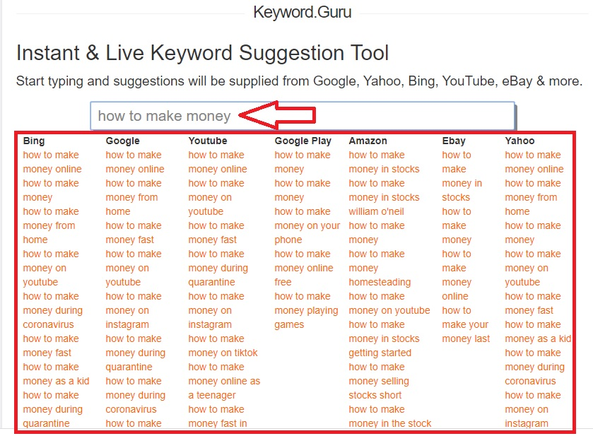 youtube video keyword research with keyword guru