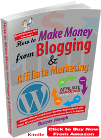 how to make money from blogging and affiliate marketing book by buzzer joseph