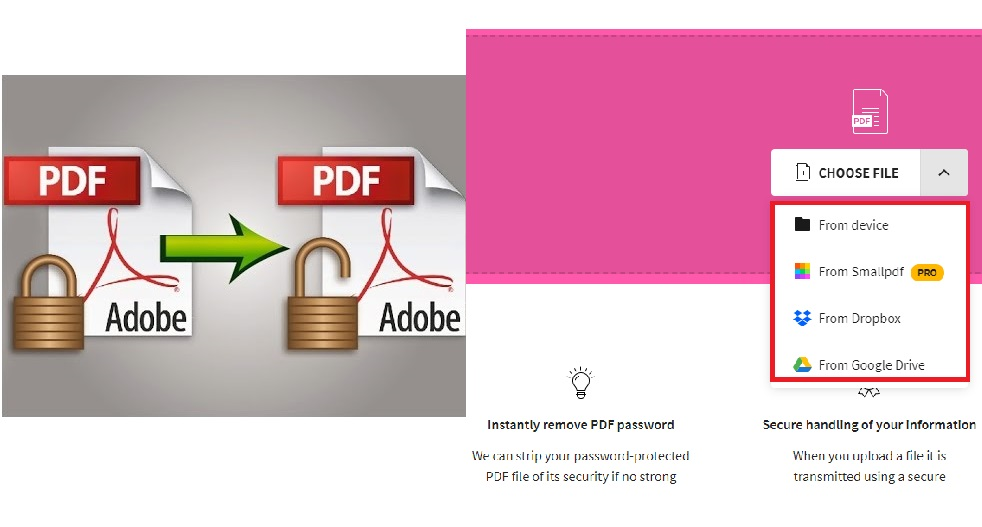 how to unlock pdf file online and offline