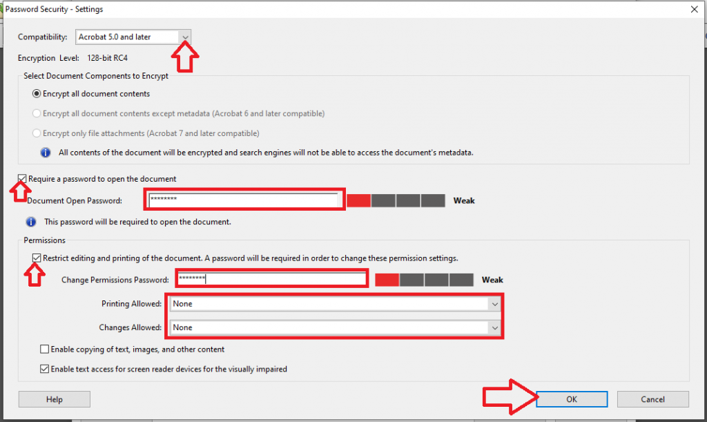 password protect pdf file in adobe acrobat reader