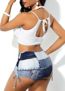cute ankara bikini swim wear for curvy young ladies