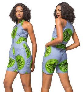 ankara pinafore jumpsuit shorts for young ladies