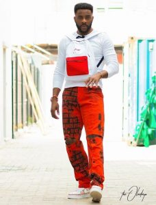 ankara rugged trousers style with top for guys, inspired by Ebuka