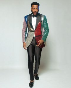 unique ankara suit style for wedding and church, Ebuka's fashion style