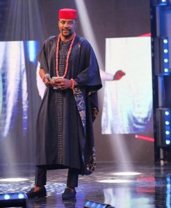 cute african print agbada style for young red cap chiefs