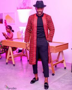 Cute ankara cowboy's fashion style from Ebuka BBNaija