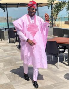 billionaires ankara agbada style with cap, inspired by Ebuka Obi-Uchendu