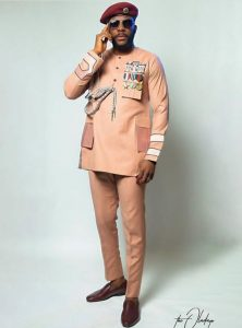 Ebuka's ankara force uniform senator style