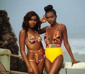 ankara bikini vs one piece swimsuit for young african ladies