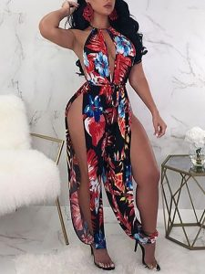 highly split ankara gown for beach party and picnic