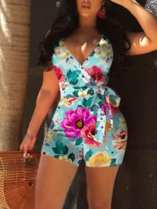 classy african print ankara pinafore shorts style for curvy, busty young ladies, jumpsuit styles