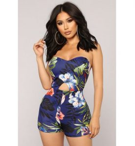 sleeveless ankara short jumpsuit style for young ladies