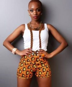 ankara bum shorts with short sleeve top for young ladies
