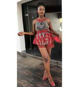 african print short knicker with long blouse style