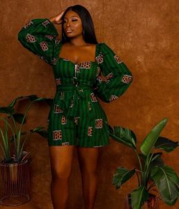 special ankara palazzo short jumpsuit style for classy ladies