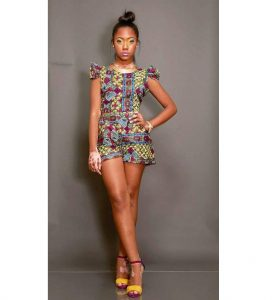 kitenge high waist short knicker with crop top for young, tall ladies