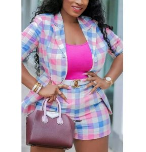 classy ankara short knicker suit style for busty, young ladies, office work ankara fashion styles