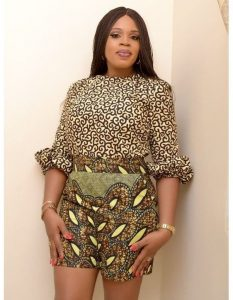 high waist ankara short knicker with top for young ladies