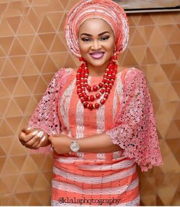 ankara lace blouse and wrapper style for traditional wedding