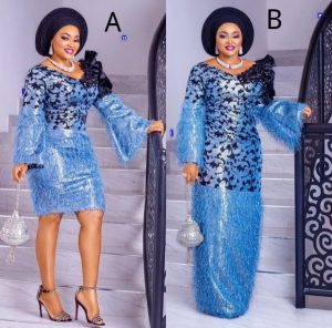 compare this ankara lace short gown vs ankara long gown styles for wedding and church service