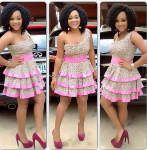 ankara one sleeve short gown style for young classy ladies