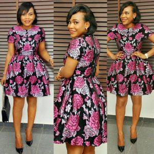 classy ankara short gown style