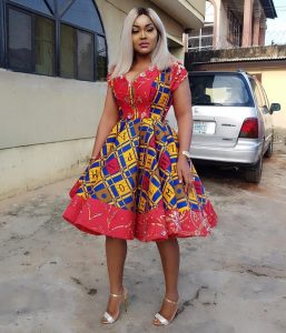 short ankara flay gown style for young ladies