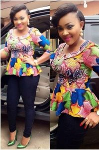 stylish ankara blouse with trousers for classy ladies