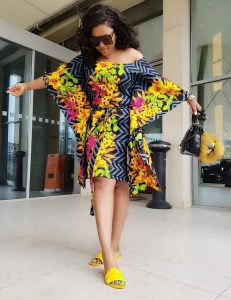 ankara butterfly short gown style