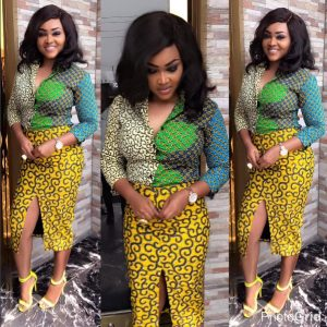 ankara short skirt and blouse style for young ladies