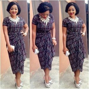 mercy aigbe ankara dress style for traditional wedding