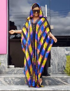 ankara agbada style for celebrity ladies