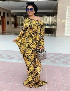stylish ankara boubou long gown for young ladies