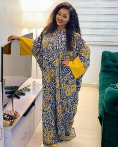 trending long ankara boubou gown style by mercy aigbe