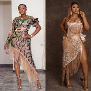 ini edo vs mercy aigbe hot ankara lace party outfits