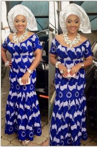 long ankara gown for church and wedding