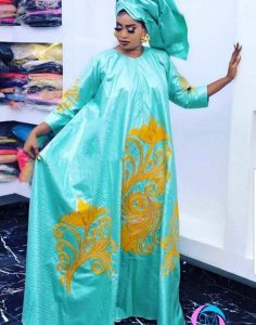 long ankara maxi gown for young ladies