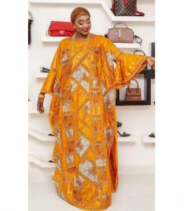stunning ankara lace boubou gown style for young ladies