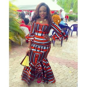 ankara long skirt and blouse style for wedding and church